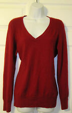 Talbots Women's Red V-neck Pure Cashmere Sweater Sz L Large