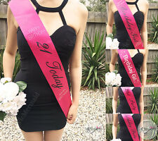 21st Birthday Sash Hot Pink Happy Birthday 21st Today Girl Party Rhinestone