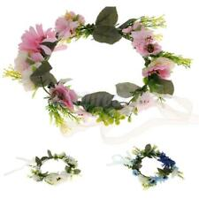 Bridal Flower Crown Headband Wedding Beach Floral Garland Hairband Headpiece