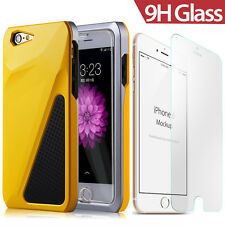 Shockproof Hybrid Defender TPU Hard Case Cover+ 9H Glass Screen for iPhone 6 6S