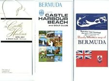 Castle Harbour Beach & Golf Club Bermuda Brochure Luggage Tag & Map