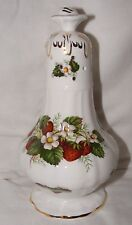"HAMMERSLEY BONE CHINA PORCELAIN SUGAR SIFTER STRAWBERRY RIPE LARGE 7.5"" HIGH"