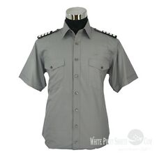GREY Pilot Shirts tailor-made pilot uniform Long & Short sleeves NEW Helicopter