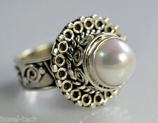 Pure 92.5 Solid Sterling Silver Fresh Water Pearl Handmade Ring Size 4 to 13 US