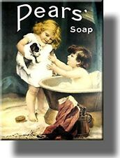 Pears Soap Vintage Bathroom Picture on Stretched Canvas, Wall Art Decor, Ready t