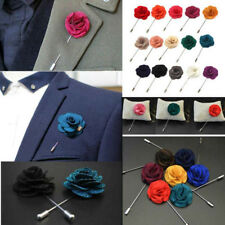 9 Colors Men's Lapel Pins Brooch For Wedding Suits Fabric Flower Brooch Hot 1pcs