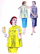 Vintage Butterick 6973 Maternity Blouse Top Smock Baby Bump Skirt Sewing Pattern