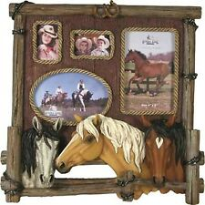 Rivers Edge Products Four Photo Horse Picture Frame New