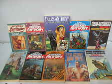 Piers Anthony Book collection x 10 titles, sci-fi, fantasy, job lot     /536R
