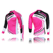 Pink New 2016 Cycling  Bicycle Jersey Mountain Bike Top Long Sleeve For Women
