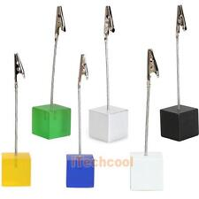 New Cube Wire Resin Base Photo Holder Card Note Memo Clip Display Gift   #T1K