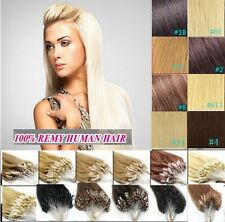 Indian Remy Human Hair Extensions Easy Loop Micro Ring Beads 16''-26'' 1g/s 100s