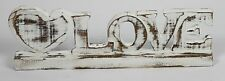 Handmade Shabby Chic LOVE Wooden Letter and Heart Small Sign