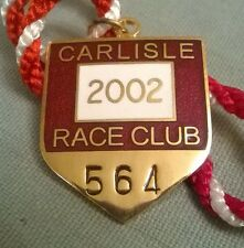 Carlisle Race Club 2002 Annual Members Horse Racing Badge. Perfect condition