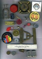 Junk Drawer Lot Doll Bottle Hardware Pin Back Buttons Tokens YoYo
