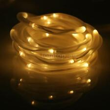 5M 16ft LED Solar Rope Lights 50 LEDs Outdoor Rope String Light for Xmas AU W6Q4