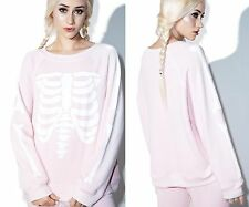 NEW WILDFOX COUTURE GHOST PINK KIM'S SWEATER SWEATSHIRT TOP JUMPERS