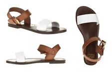 FADED GLORY - Women's Casual Two Tone One Band Flat Sandals Shoes