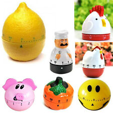 Creative Plastic Mechanical Kitchen Cooking Alarm Timer Reminder 60 Minute Tool