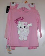 NWTS GUESS PINK KITTY LONG-SLEEVE TEE/LEGGING SET SIZE 18 MONTHS