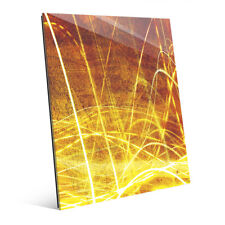 Click Wall Art 'Liquid Amber' Graphic Art on Plaque