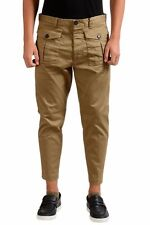 """Dsquared2 """"Icon"""" Men's Beige Cropped Casual Pants Size 30 32 34"""
