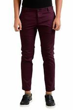 Dsquared2 Men's Burgundy Cropped Casual Pants Size 32 36