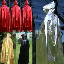 Kid Adult Child Witch Wizard Vampire Halloween Costume Hooded Dress Cape Cloak