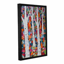 'Vibrant Forest' by Michelle Rivera Framed Painting Print on Wrapped Canvas