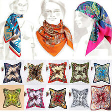 "Sexy Silk-like Big Satin Square Large Scarf Bandana Wrap Printing Shawl 35""X35"""