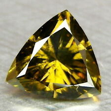 0.55ct Twinkling Trillion cut Fancy Green Natural Loose Diamonds Free Shipping
