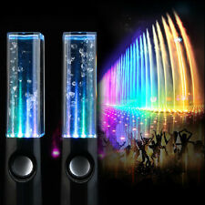LED Water Dancing Fountain USB Speakers Stereo Set Tablets Mobiles PC Laptops UK