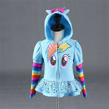 Kids Toddler Girl Hoodie My Little Pony Wing Cute Sweatshirt Zip Coat Jacket Top