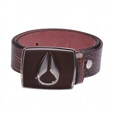 Nixon Enamel Icon Belt Leather Leather Brown Croc