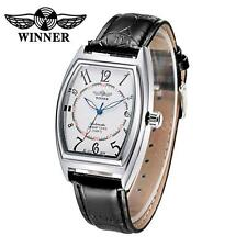 WINNER Automatic Men's Mechanical Luminous PU Leather Date Wrist Watch Box Q0A7