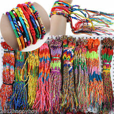 New 10-100pcs Colorful Braid Strands Friendship Cords Handmade Bracelets Random