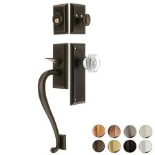 SOLID BRASS DEADBOLT THUMBLATCH ENTRY DOOR SET ~ 5 FINISHES ~ NEW! DSE06
