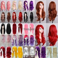 Long Hair Costume Full Wigs 15COLOR Heat Resistant Synthetic Hair Cosplay Wigs g