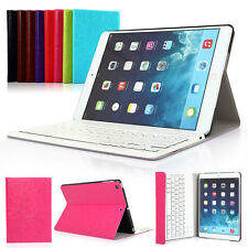 For iPad 2/3/4 Mini 2/3 Air 2 PU Leather Removable Wireless Bluetooth Keyboard