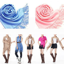 Fashion Women's Scarf Pashmina Imitation Cashmere Scarf Silk Solid Shawl Wrap