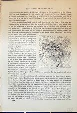 Old Antique Print Map Street Plan Ely Trinity England Cassell C1882 120J639