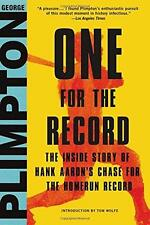 One for the Record by George Plimpton (2016, Hardcover)