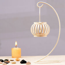 3 Color Opt Metal nostalgia small pumpkin Hanging Tabletop Candle Stick Stand
