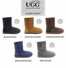 OZLANA Australian Double face Sheepskin Classic Short  water resistant UGG boot