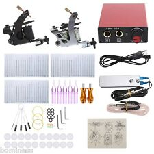 Tattoo Iron Machine Gun Shader Liner Mixed Needles with Foot Pedal Switch