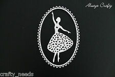 4sets - Ballerina Lady and Frame Paper Die Cuts - Scrapbooking