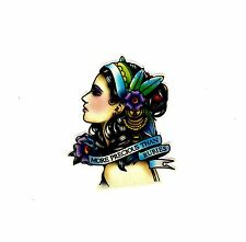 Beautiful Womens Lady Girls Car Biker Bumper Window Laptop Vinyl Stickers Decals