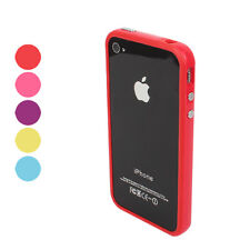 TPU Bumper Frame Case with Metal Buttons for iPhone 4/4S  Colors 007