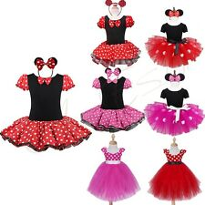 Baby Kids Minnie Mouse XMAS Outfit Costume Princess Dance Fancy Party Tutu Dress