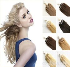 Remy Brazilian Human Hair Extensions Easy Micro Loop Ring Beads Tipped Link Hair